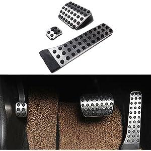 Jaimenalin Steel Footrest Foot Rest Dead Pedal Pad Cover for Mercedes A B C E S CLS SLK CLA GLA GLK ML G GL Series Car Styling