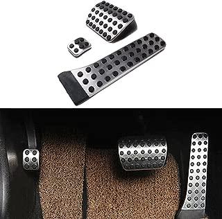 etopmia BEZ No Drill Fuel Brake Foot Pedals For Mercedes Benz C/E/S/GLK/SLK/CLS/Sl Class Silver (1 Pack)