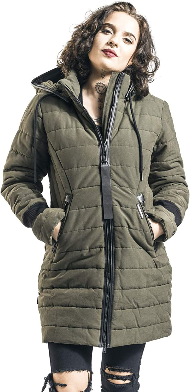 Khujo Shine Mujer Abrigo de Invierno Aceituna,