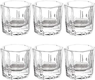AnFun 6 Pieces Nail Art Acrylic Liquid Powder Dappen Dish Glass Crystal Cup Glassware Tools