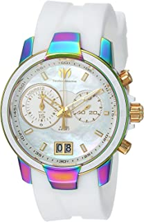 [テクノマリーン]TechnoMarine 腕時計 'UF6' Quartz Stainless Steel and Silicone Casual Watch, TM-615019 レディース [並行輸入品]