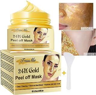 Mascarilla Puntos Negros, Blackhead Remover Mask, Peel Off Máscara, 24K Gold Face Mask, Antiarrugas Minimizador de Poros, Eliminar Puntos Negros-120g