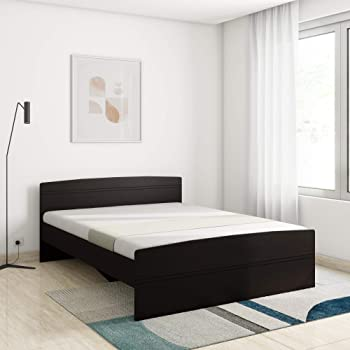 Amazon Brand - Solimo Betty Queen Size Engineered Wood Bed (Espresso Finish)