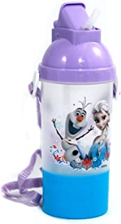 Disney Frozen Rock N Sip N Snack 15oz Canteen with Straps Sport Tumbler Cup