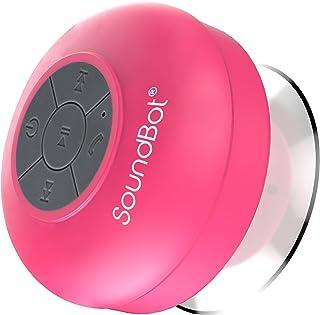 SoundBot SB510 HD Water Proof Bluetooth 3.0 Speaker, Mini Water Resistant Wireless Shower Speaker, Handsfree Portable Spea...
