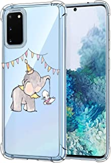 Oihxse Crystal beschermhoes voor Samsung Galaxy A71 transparant silicone TPU beschermhoes Air Cushion hoeken met motief [E...