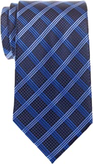Retreez Elegant Vintage Plaid Check Woven Microfiber Men's Tie - Various Colors