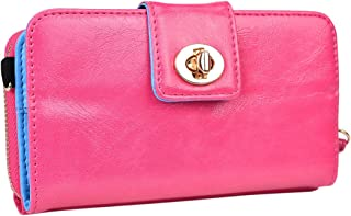 Kroo Magnetic Clutch Wallet for Samsung Galaxy S3 - Frustration-Free Packaging - Baby Pink