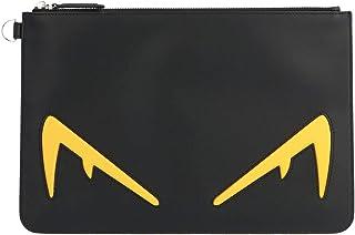 Fendi Men's 7N0078A80SF0R2A Black Leather Clutch