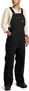 Men's R27 Sandstone Duck Bib Overall - Quilt Lined - 44W x 30L - Black