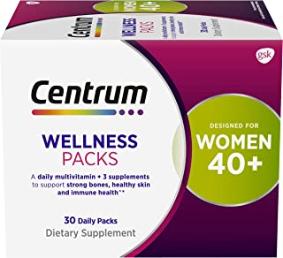 Centrum Wellness Packs Daily Vitamins for Women in Their 40s, Women's Vitamins with Complete...