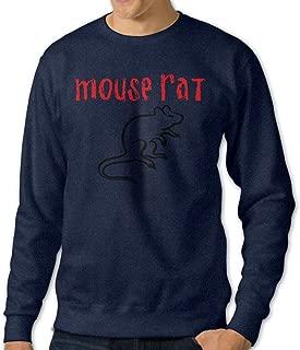 NINJOE Men's Recreation Mouse Rat Circle Custom Long Sleeve T Shirt Navy
