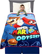 "Franco Kids Bedding Super Soft Plush Microfiber Throw, Microfiber, Super Mario, 46"" x 60"""