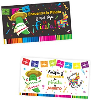 Scratch off tickets Mexican Party 25pc - Raspadito Fiesta Mexicana con 25 piezas