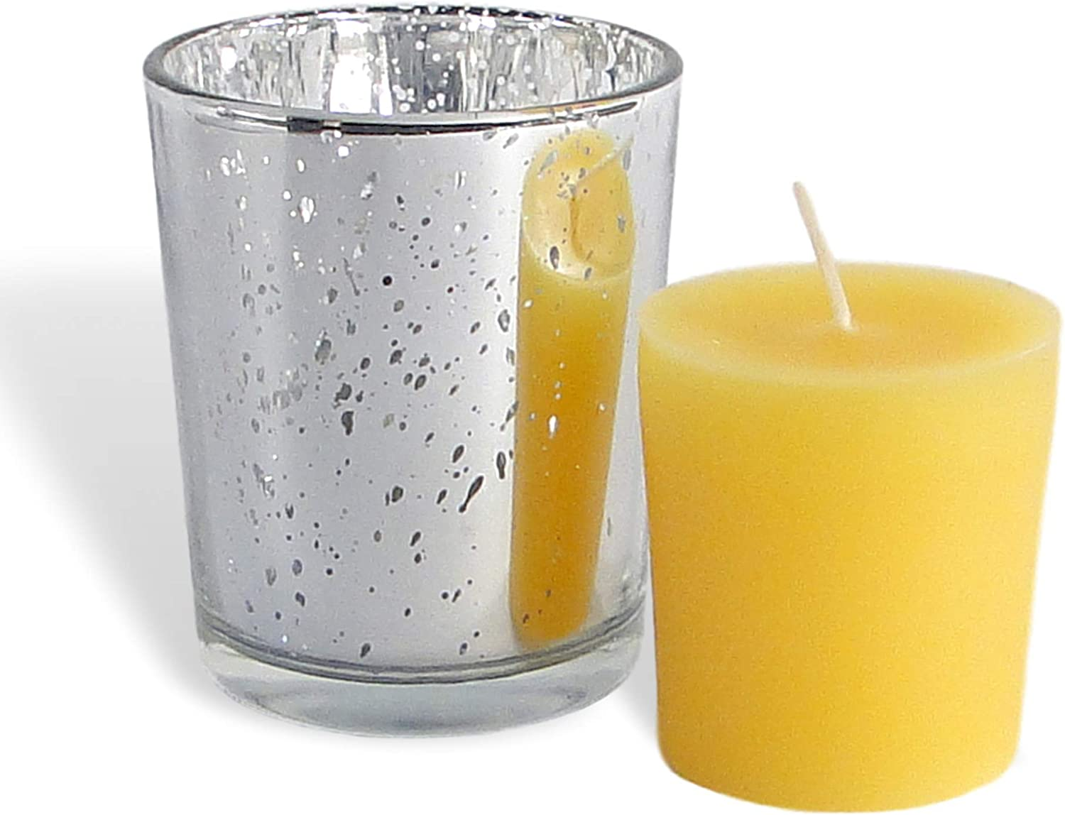 BCandle 100% Pure Raw Soldering Beeswax Votive Si Holder Glass in Candles Max 71% OFF