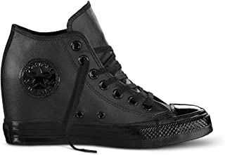 scarpe converse con zeppa glitter