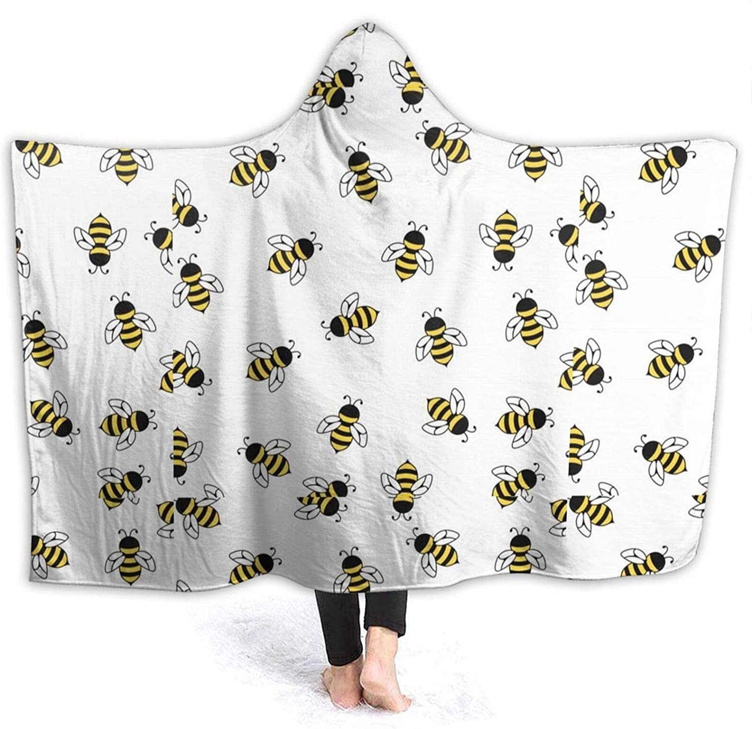 NYIVBE Cute Cartoon Bee Hooded At the price Blanket Soft Cheap super special price Cozy Super Warm Flee
