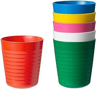 comprar comparacion Ikea Kalas Vaso, Multicolor, 8x17x8 cm, 6 Unidades