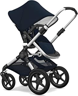 Bugaboo Fox Classic Complete Stroller, Alu/Dark Navy - Fully-Loaded Foldable Stroller with Advanced Suspension and All-Terrain Wheels