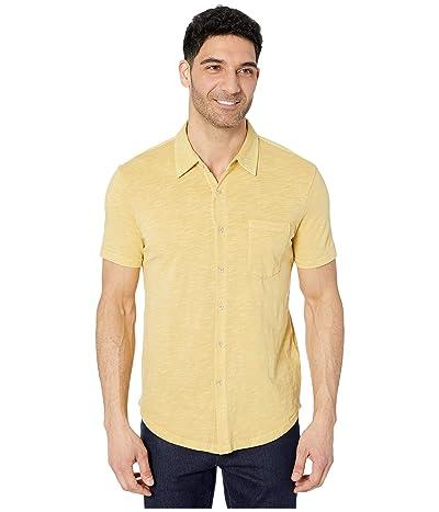 Mod-o-doc Montana Short Sleeve Button Front Shirt (Mango) Men
