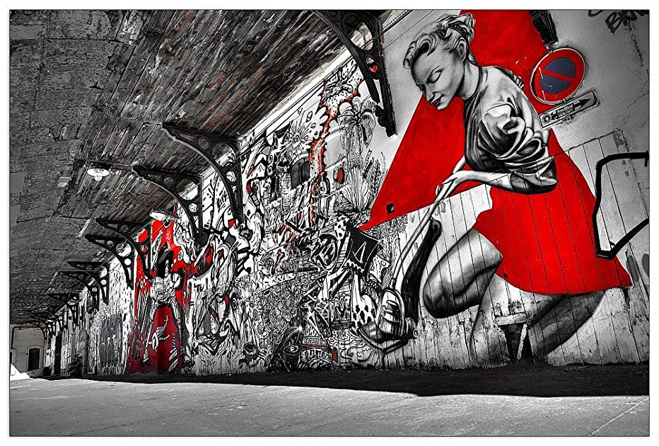 ArtPlaza TW93387 Studio-Street Art Decorative Panel 39.5x27.5 Inch Multicolored