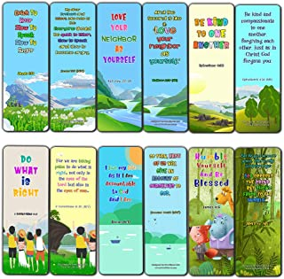 Bible Bookmarks for Kids - Cultivate Good Character (60 Pack) - Perfect Gift Away for Sunday School and Ministries