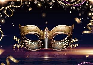 LTLYH 7X5ft Masquerade Party Backdrops Photography Background Golden Mask Black Retro Pattern Adult Celebration Photo Backdrop Decorations(A063)