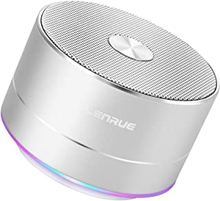 LENRUE Portable Wireless Bluetooth Speaker with Built-in-Mic,Handsfree Call,AUX Line,TF Card,HD Sound and Bass for iPhone ...