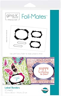 Gina K. Designs for Therm O Web 18099 Foil-Mates Borders, Label