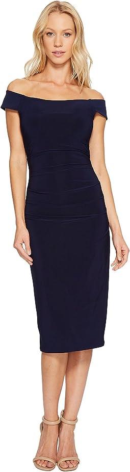 Off the Shoulder Curve Control Dress