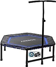 Arebos Fitnesstrampoline | trampoline met handgreep | max. 120 kg, TÜV-getest | fitness rebounder voor lichaamstraining en...