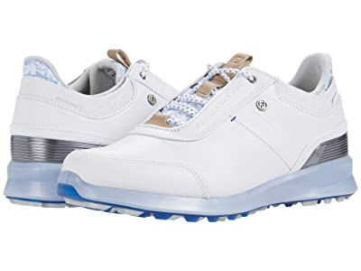 FootJoy Stratos Spikeless Luxury Casual (White Fashion Print) Women