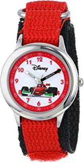Disney Kids' W000095 Cars Stainless Steel Time Teacher Watch