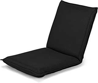 Giantex Adjustable Mesh Floor Sofa Chair, 6-Position Multiangle Padded Floor Chair, Cushioned Back Support Versatile, Video Game Chairs for Meditation Seminars Reading TV Watching or Gaming (Black)