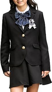 [アリサナ]arisana 卒業式 小学生 女の子 スーツ 子供服 フォーマル レオナ (ジャケット + キュロット + シャツ + リボン の 4点 セット)