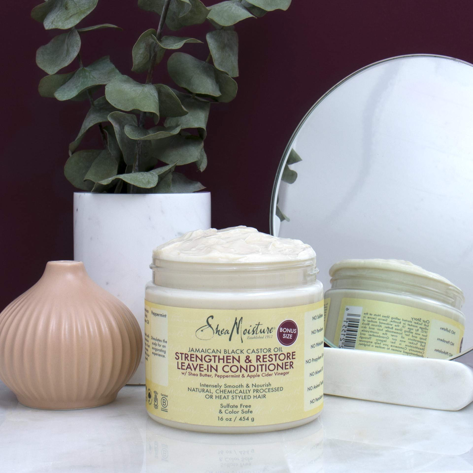 Shea Moisture Strengthen & Restore Leave-In Conditioner 16 Ounce (Pack of 1)