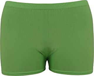ND Sports Girl's Lycra Hot Pants for 10-12 Years UK, XL, Green
