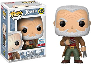 Funko Old Man Logan (2017 Fall Con Exclusive) POP! Marvel x X-Men Vinyl Figure + 1 Official Marvel Trading Card Bundle (21067)