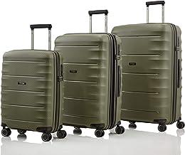 TITAN 4-Rad Koffer Set Größen L/M/S mit TSA Schloss, Bordtrolley erfüllt..