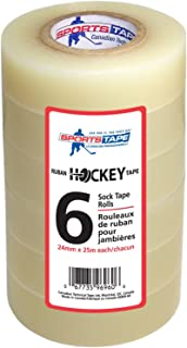 SportsTape Hockey Tape Multipack, Clear, 6 Roll