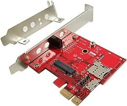 Ableconn PEXM2150B PCI Express x1 Adapter Card with M.2 Key B Socket - Support M2 B Key or B-M Key WWAN (CDMA, GPS, LTE) or PCIe Host Module