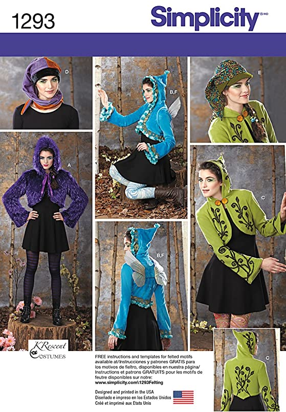 Simplicity Pattern 1293 Misses Jacket, Hat, Wings, Lined Jacket Designs by KRescent Costumes fy212657748