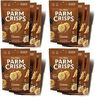 ParmCrisps Sesame, Keto Snacks, 1.75 Oz (Pack Of 12), 100% Cheese Crisps, Gluten Free, Sugar Free, Keto-Friendly