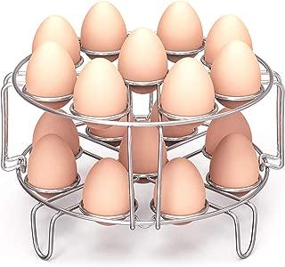 Egg Steamer Rack, Packism Steaming Rack Fit 6,8Qt Instant Pot Accessories Air Fryer Ninja Foodi, Cook 18 Eggs, Stainless Steel Kitchen Trivet Stackable Steaming Holder Pressure Cooker Accessories