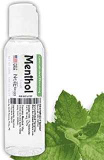 NoTE Multi-Purpose Liquid Menthol Flavoring Concentrate 1-4oz - USP Grade Menthol for Aromatherapy, Soaps, or DIY Liquid (60mL/2oz)