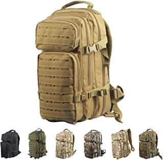 FOCUHUNTER Tactical Backpack Multi-Function 3P Backpack 25L Waterproof Oxford Military Unisex Outdoor Sports Hiking Campin...