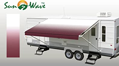 SunWave Awning Fabric Burgundy Fade 16' *(approximate fabric width 15' 2-3