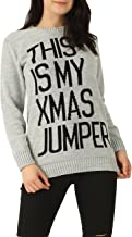 Momo&Ayat Fashions Ladies Mens 'This is My Xmas Jumper' Slogan Christmas Knitted Sweater Jumper USA Size 4-14