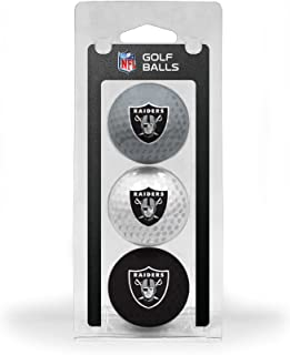 Team Golf NFL Regulation Size Golf Balls, 3 Pack, Full Color Durable Team Imprint (Ball Color May Vary)
