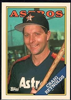 Baseball MLB 1988 Topps Tiffany #557 Craig Reynolds Astros